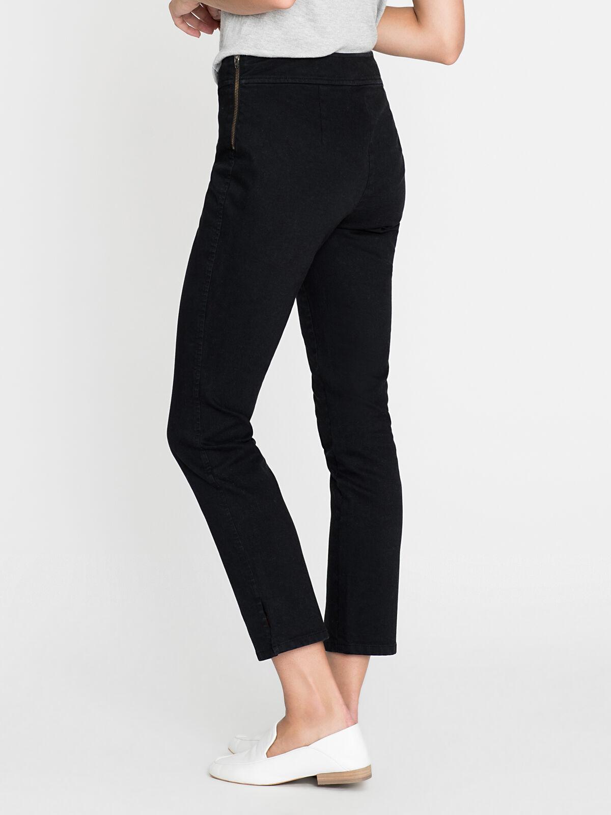 Zip Up Denim Pant