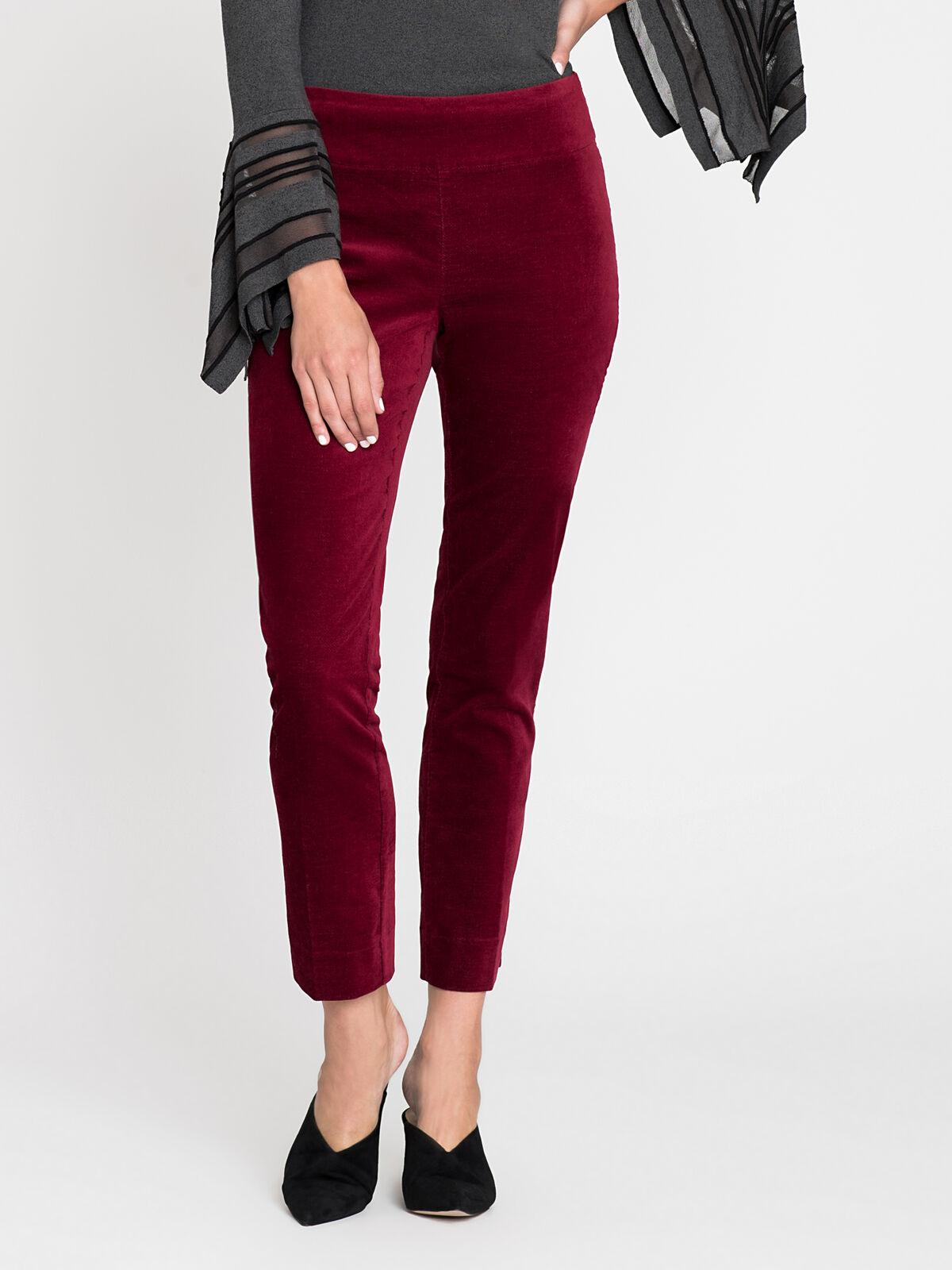 Velvet Side Zip Pant