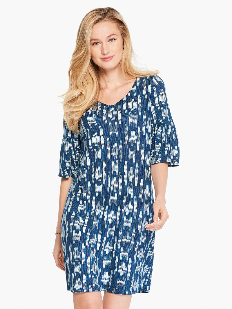 Indigo Waves Dress