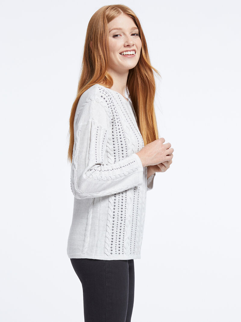 Cable Stud Sweater image number 1