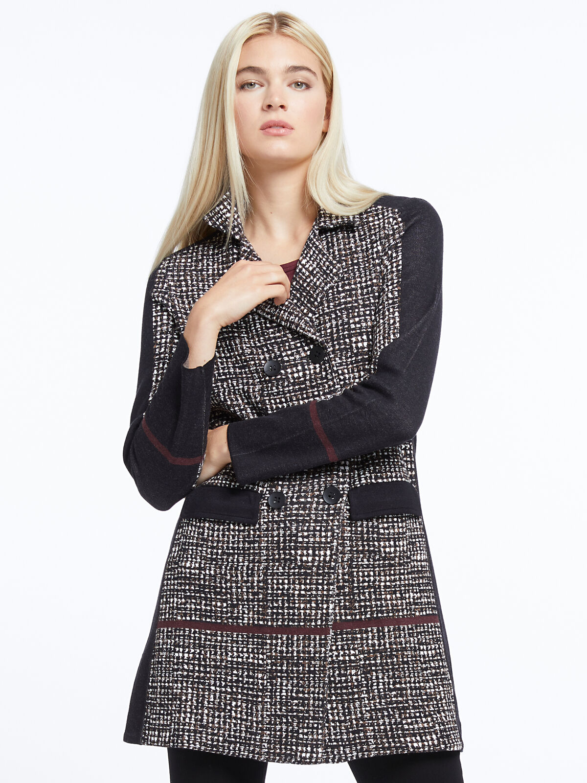 Abstract Tweed Jacket