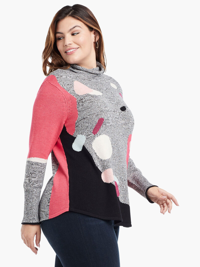 Abstract Intarsia Sweater image number 2