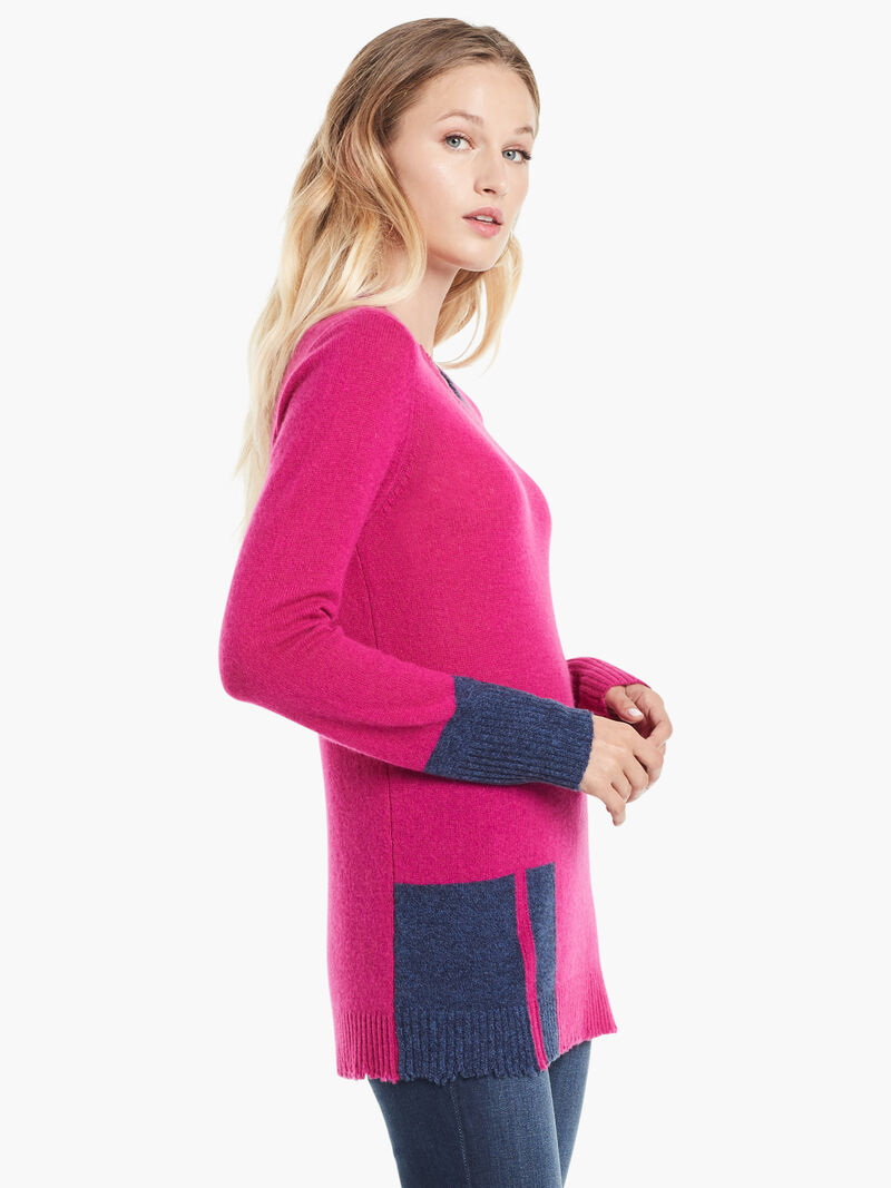 Colorblock Cashmere Sweater image number 1
