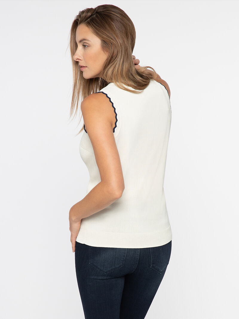 SCALLOP SWEATER TANK image number 2
