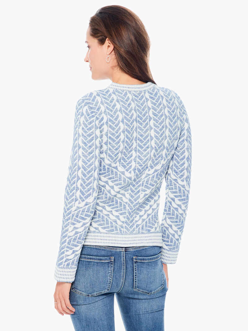 Quilted Cable Knit Jacket image number 2