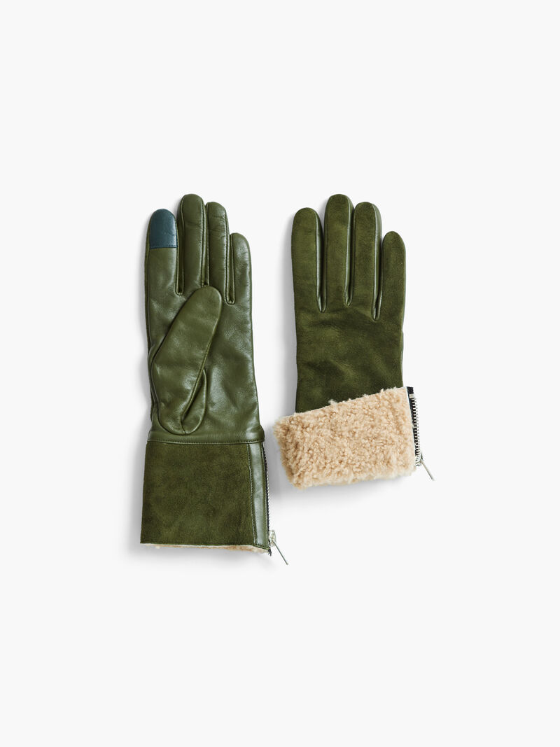 Amato Shearling Glove With Side Zip image number 1