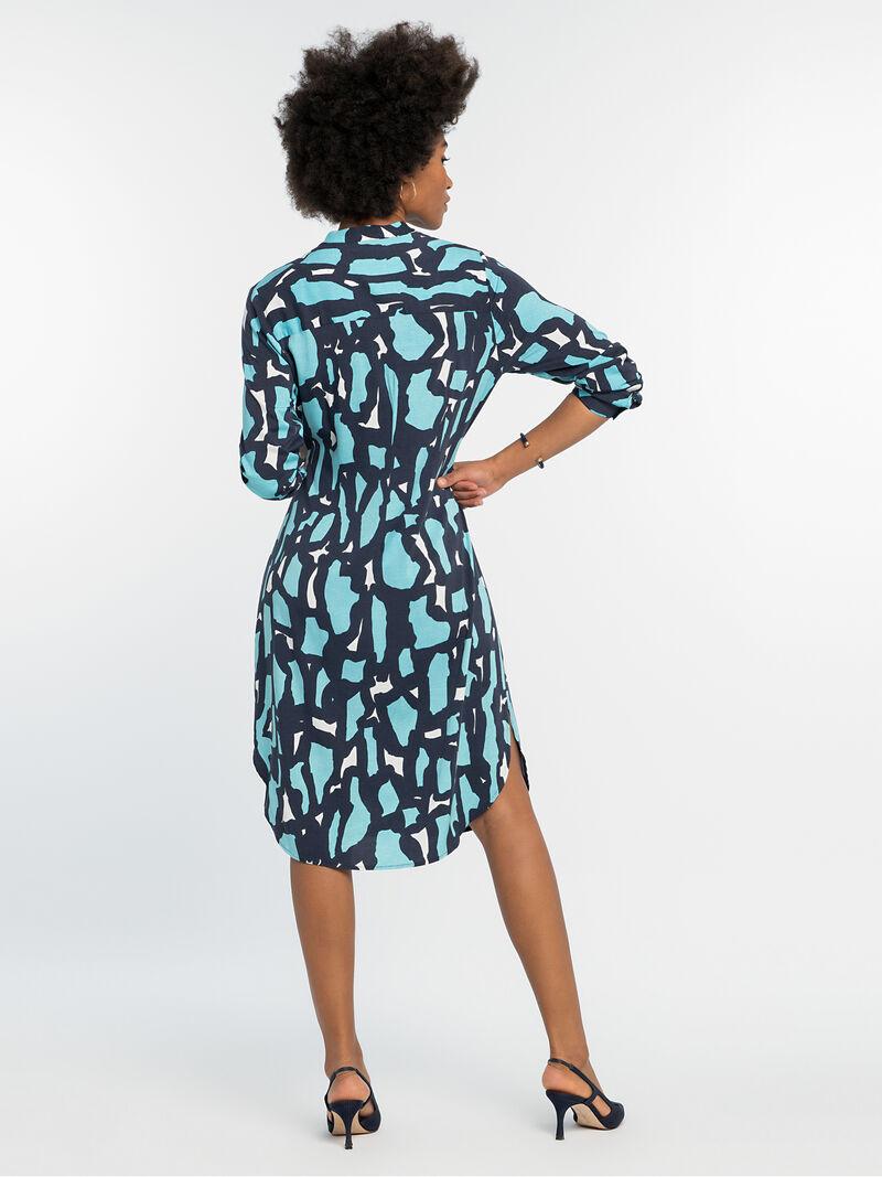 VIVID GIRAFFE TIE DRESS image number 2