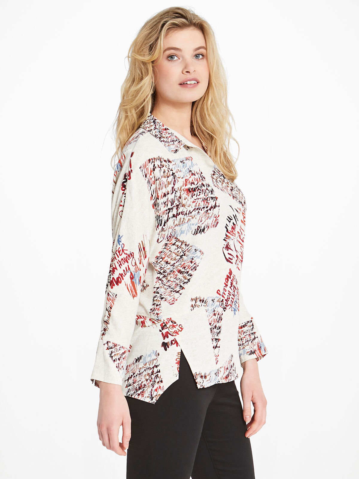 Scattered Letters Blouse