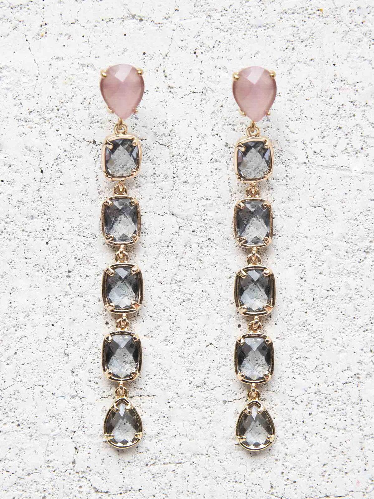 Nakamol Square Stone Drop Earrings