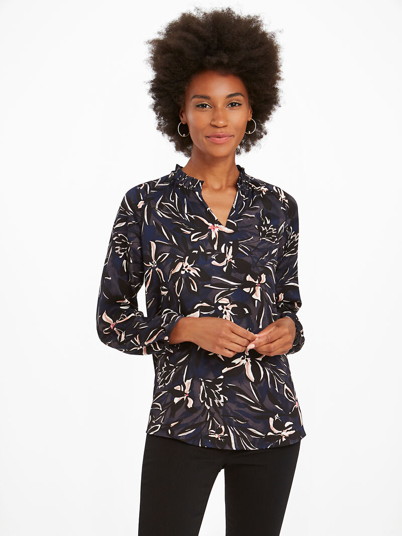 Inky Blooms Blouse