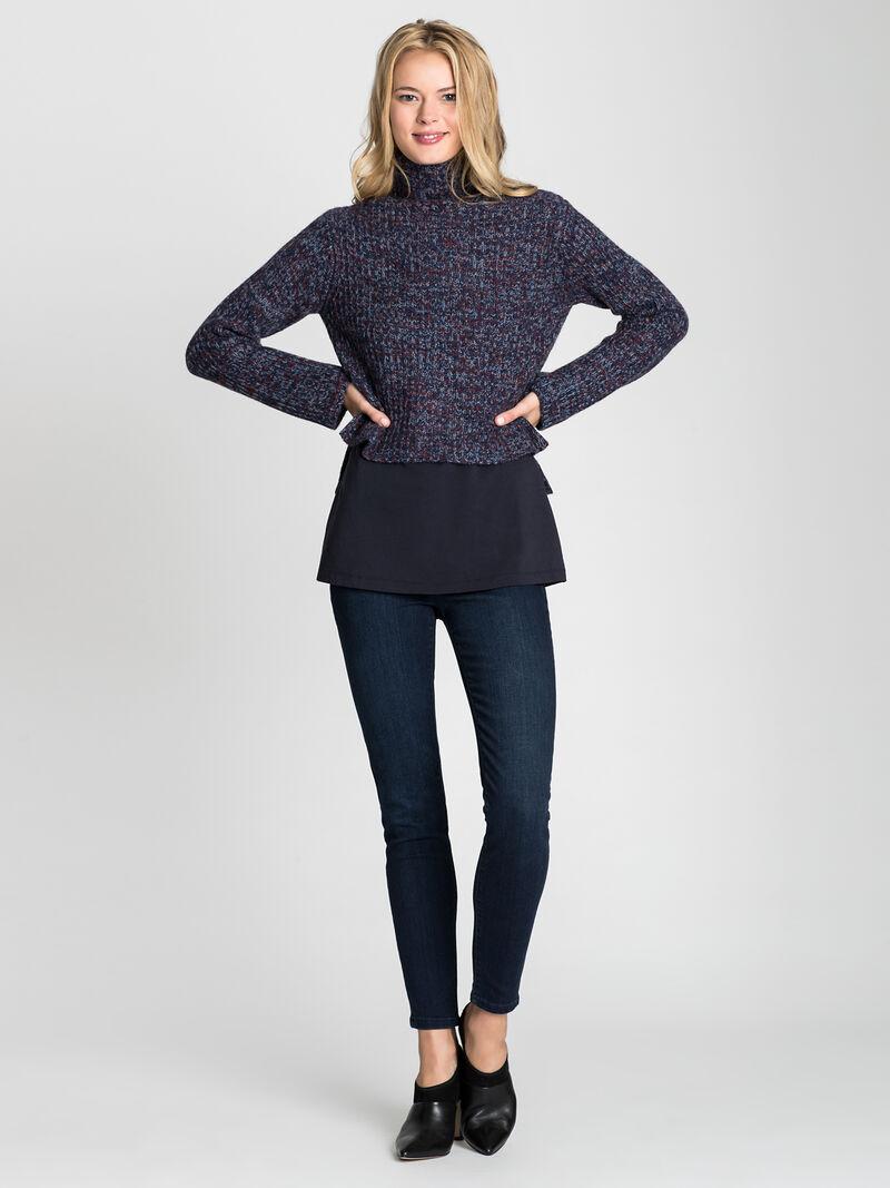 Mock Neck Crop Pullover image number 3