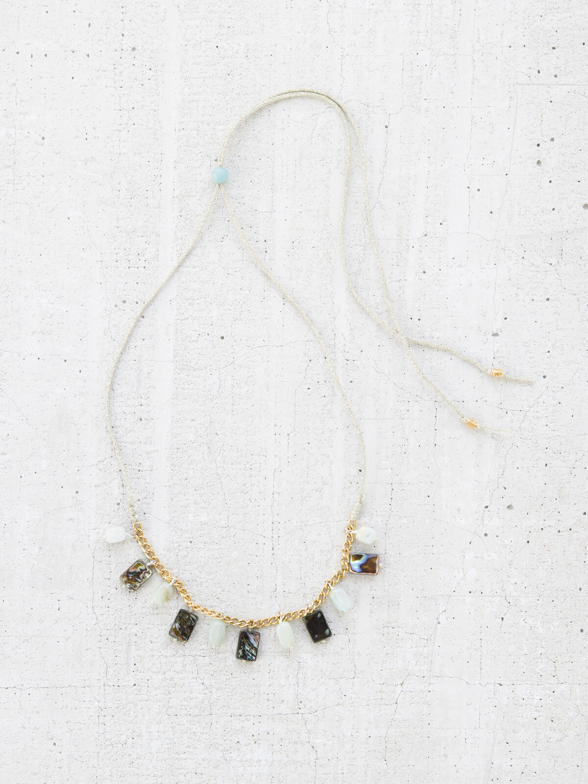 CHAN LUU STONE MIX CHARM NECKLACE