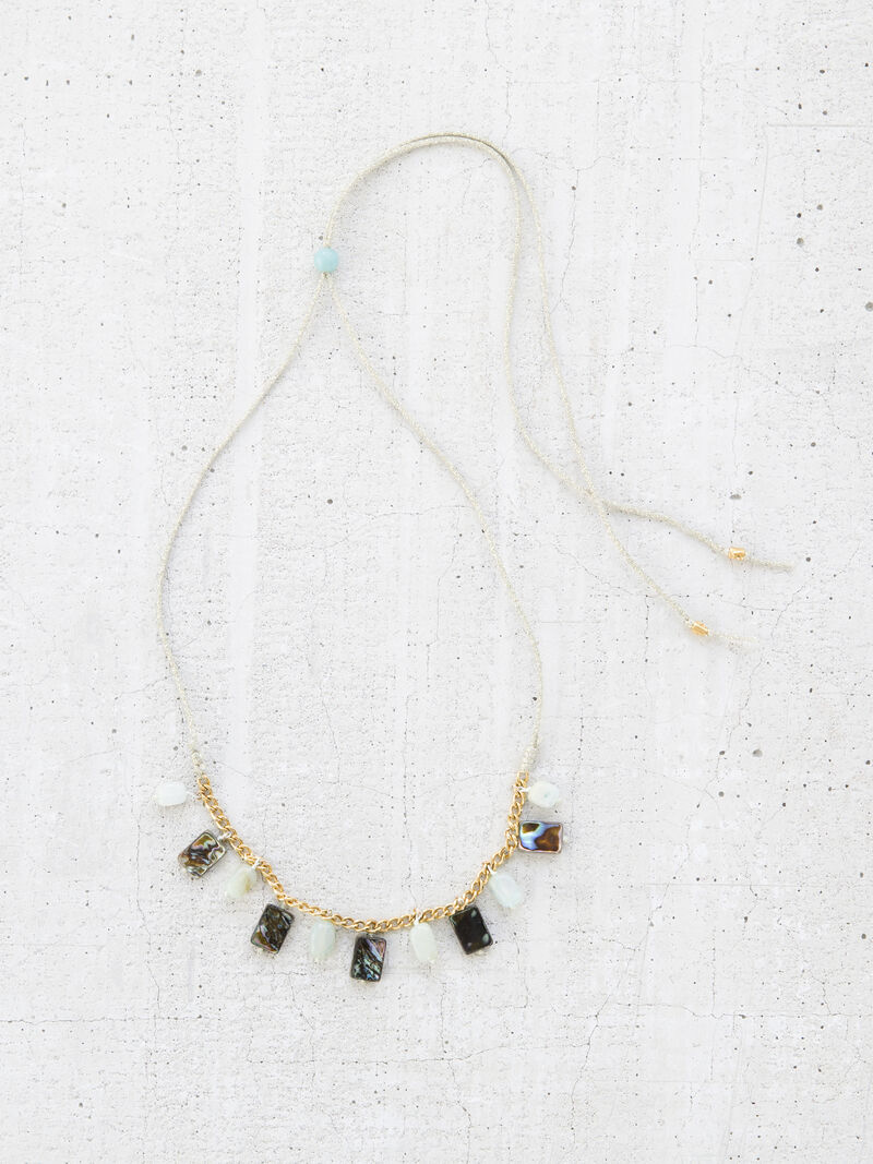 CHAN LUU STONE MIX CHARM NECKLACE image number 0