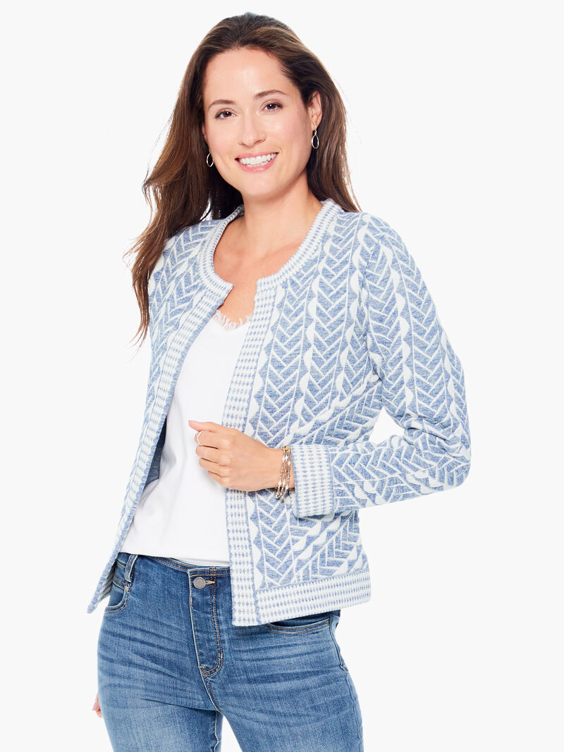 Quilted Cable Knit Jacket