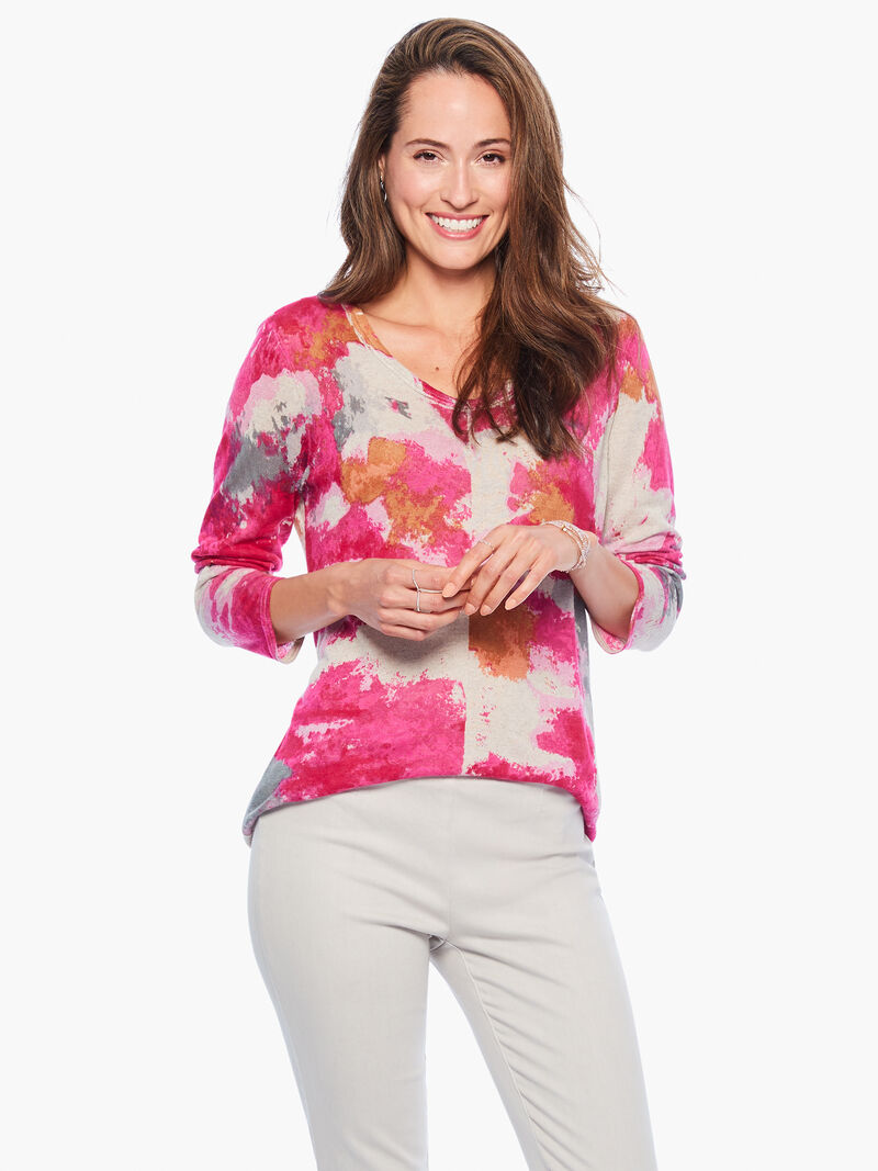 Sunset Blooms Sweater image number 0
