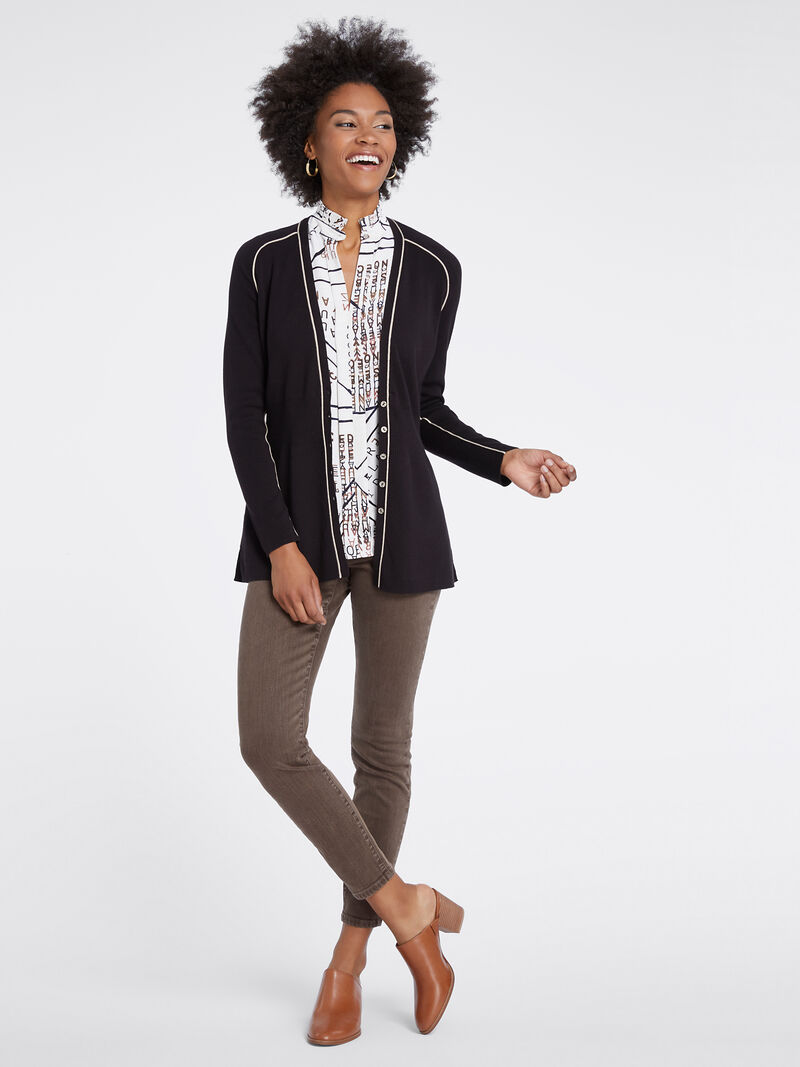 Tipped Cardigan image number 3