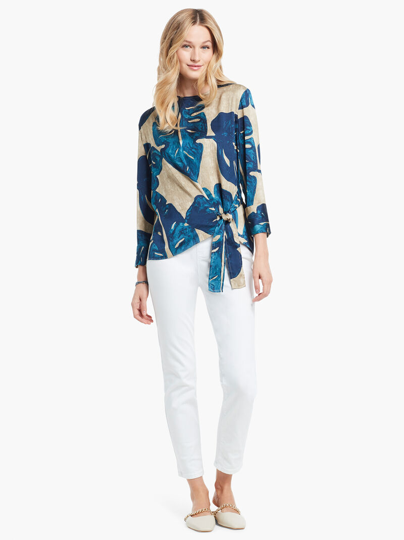 Falling Fronds Tie Blouse image number 3
