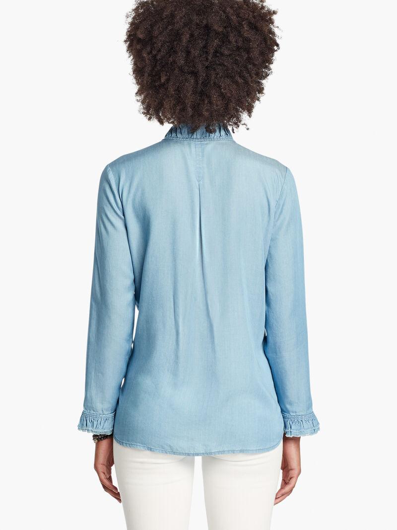 Ruffled Up Denim Shirt image number 2