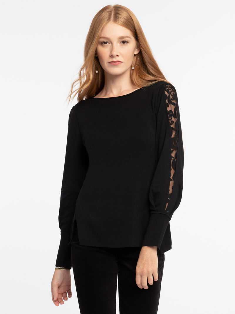 Flash Of Lace Sweater image number 1