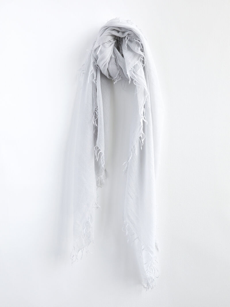 CHAN LUU SOLID SCARF WITH FRINGE EDGES