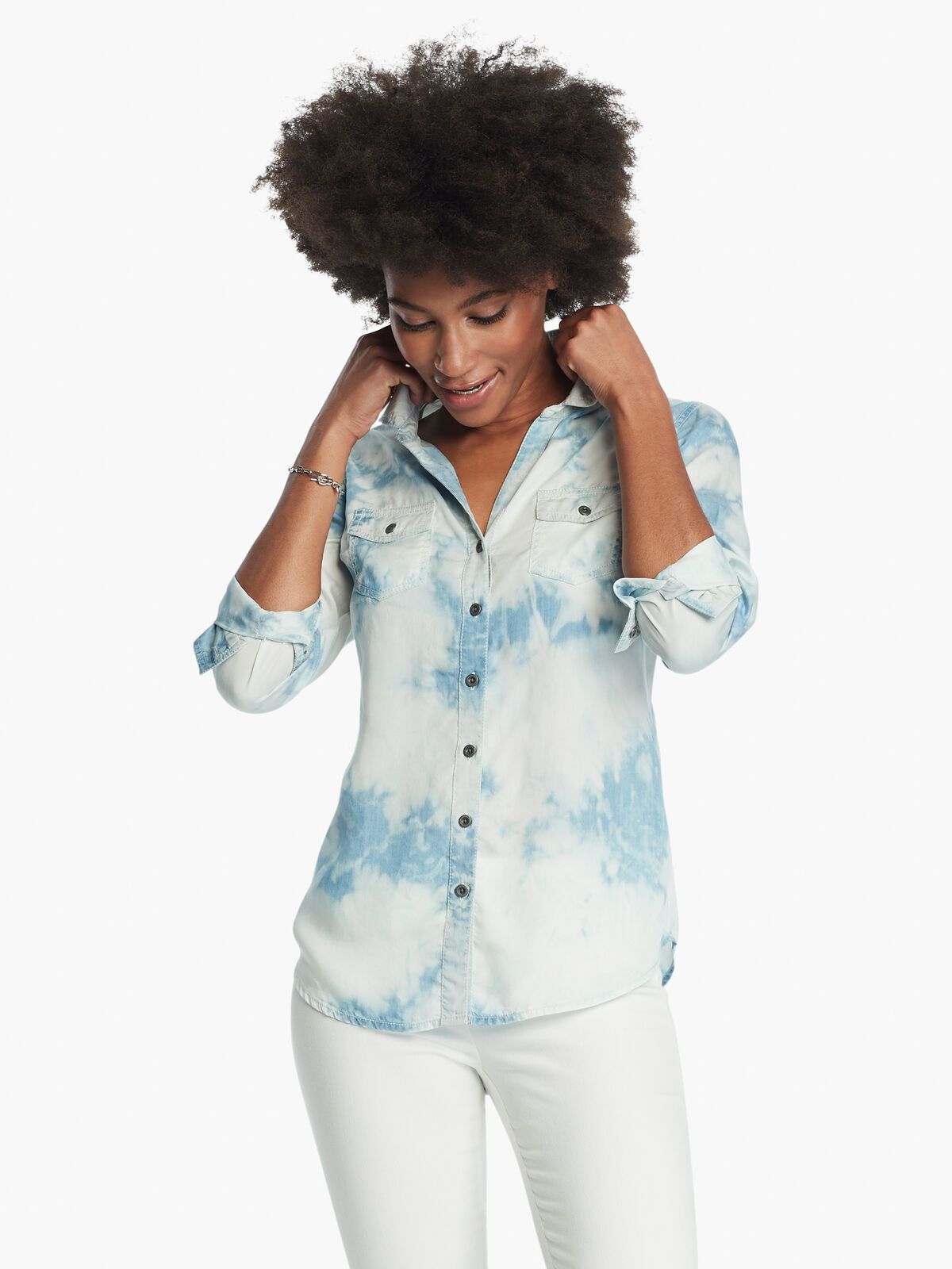 Tie Dye Denim Shirt