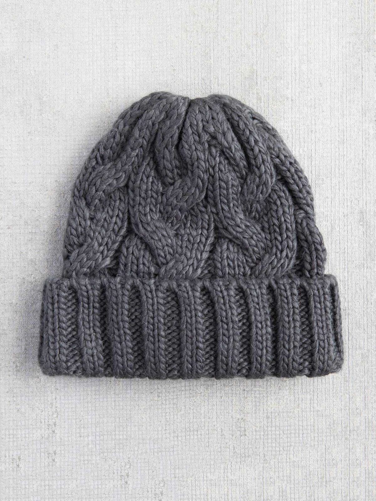 Hat Attack Fisherman Cable Cuff Hat