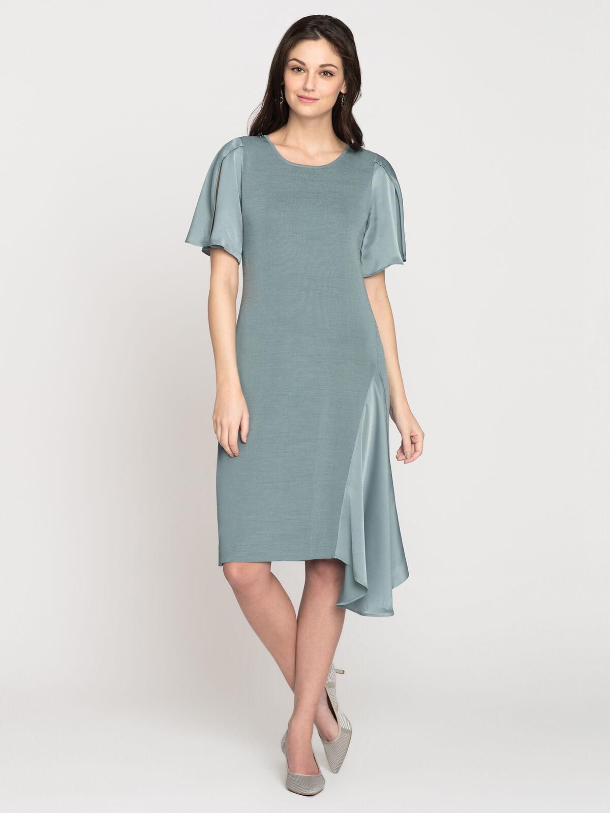 Mixed Flutter Dress