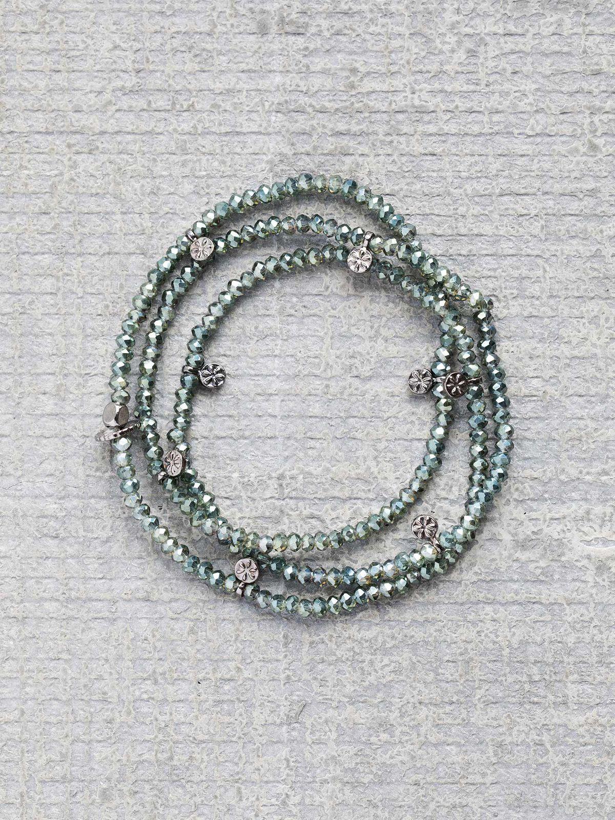 Marlyn Schiff Multi Stone Charm Bracelet