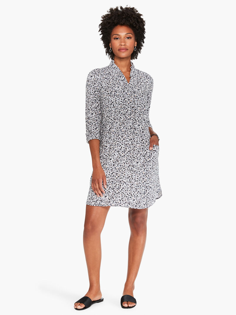 Textured Spot Live In Dress image number 2