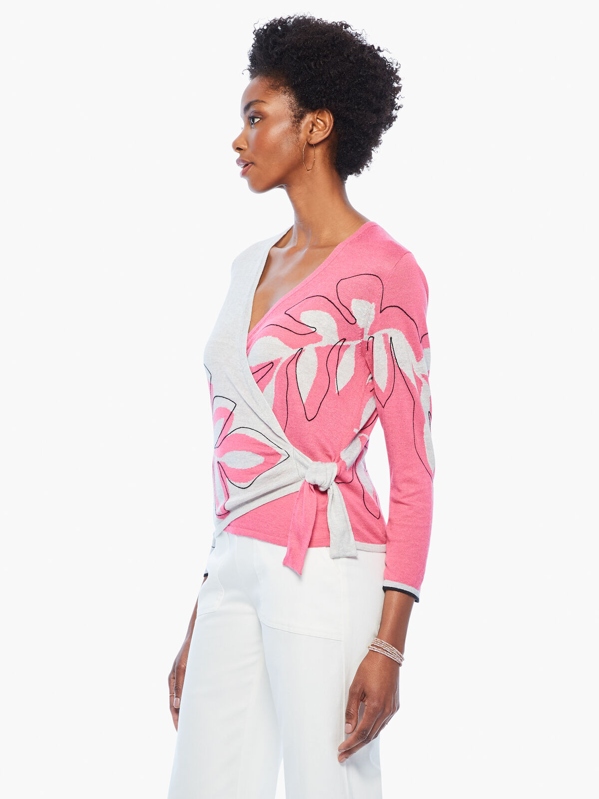 Hibiscus Tie Sweater