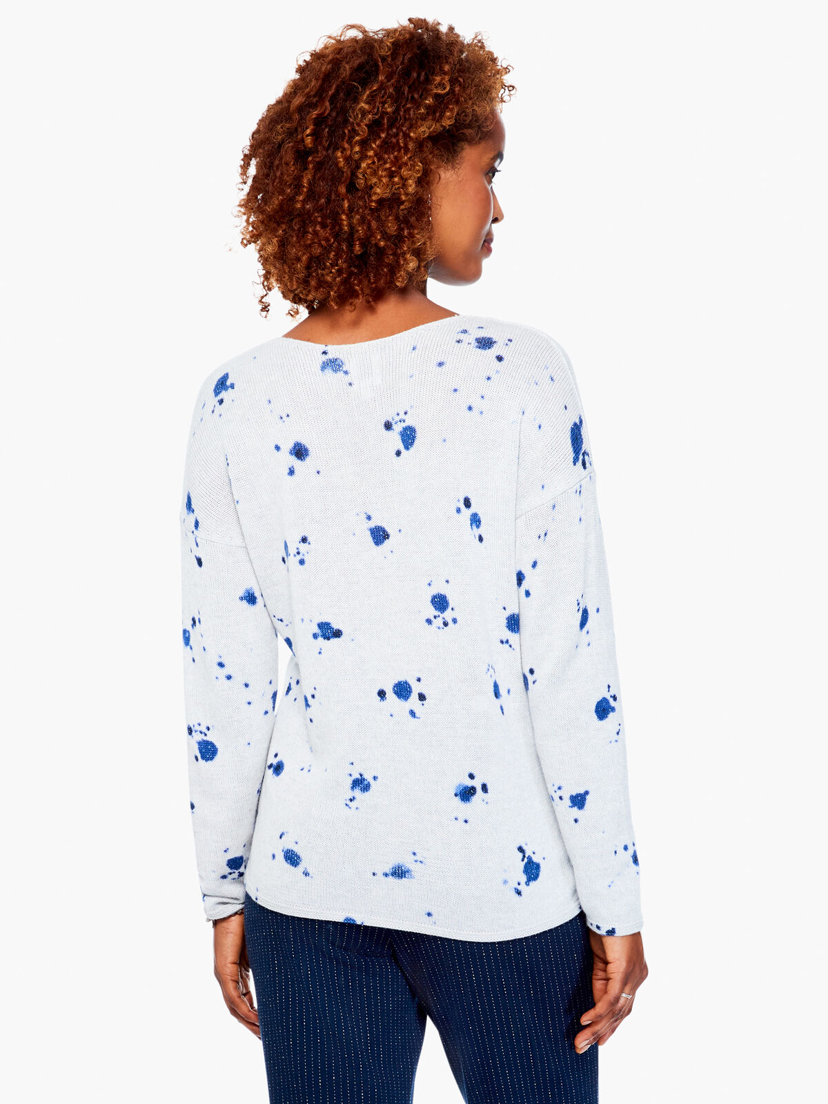 Shibori Stamp Sweater