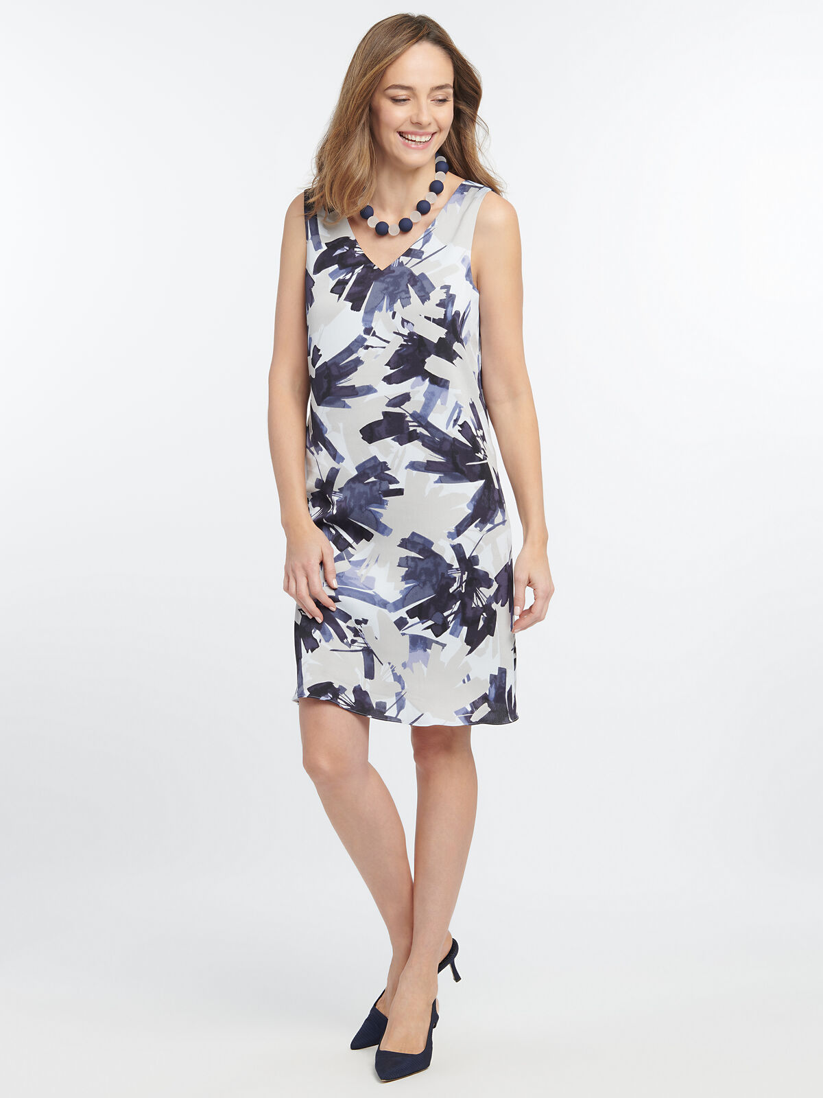 Inky Flowers Dress