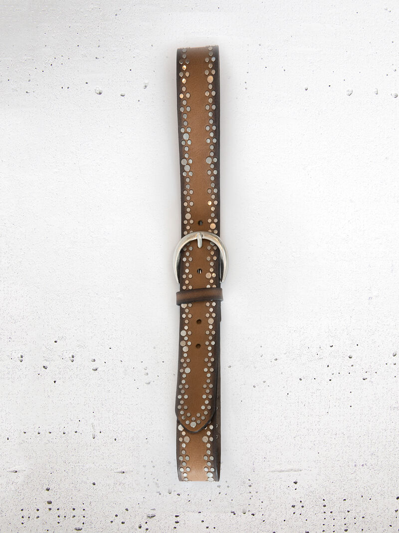 B.Belt - Studded Leather Belt