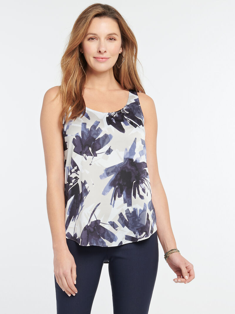 Inky Flowers Tank image number 0