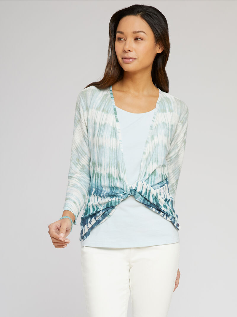 Ombre Sea 4-Way Cardigan image number 2