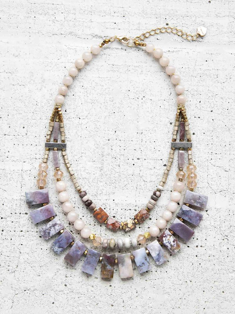 Nakamol Multi Strand Statement Necklace