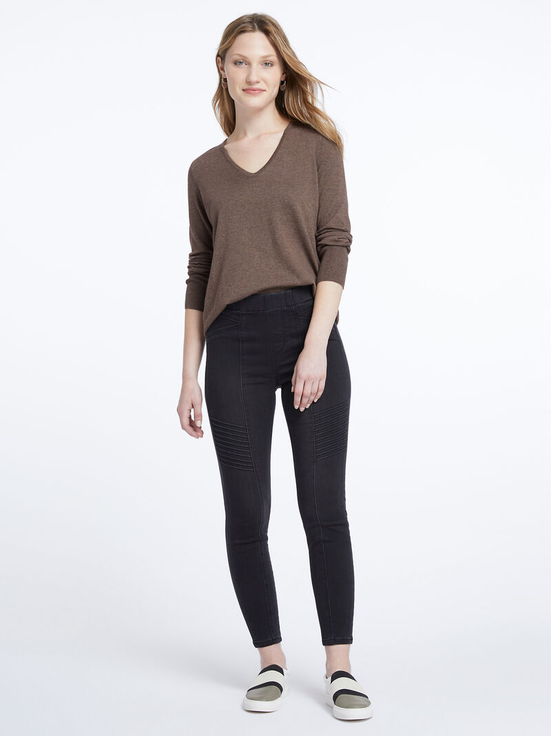 Liverpool - Chloe Moto Pull-On Jean