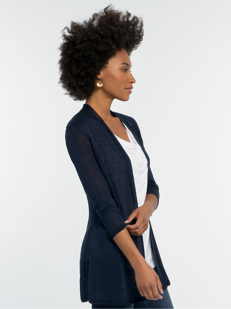 Lightweight Long Back of the Chair Cardigan image number 2