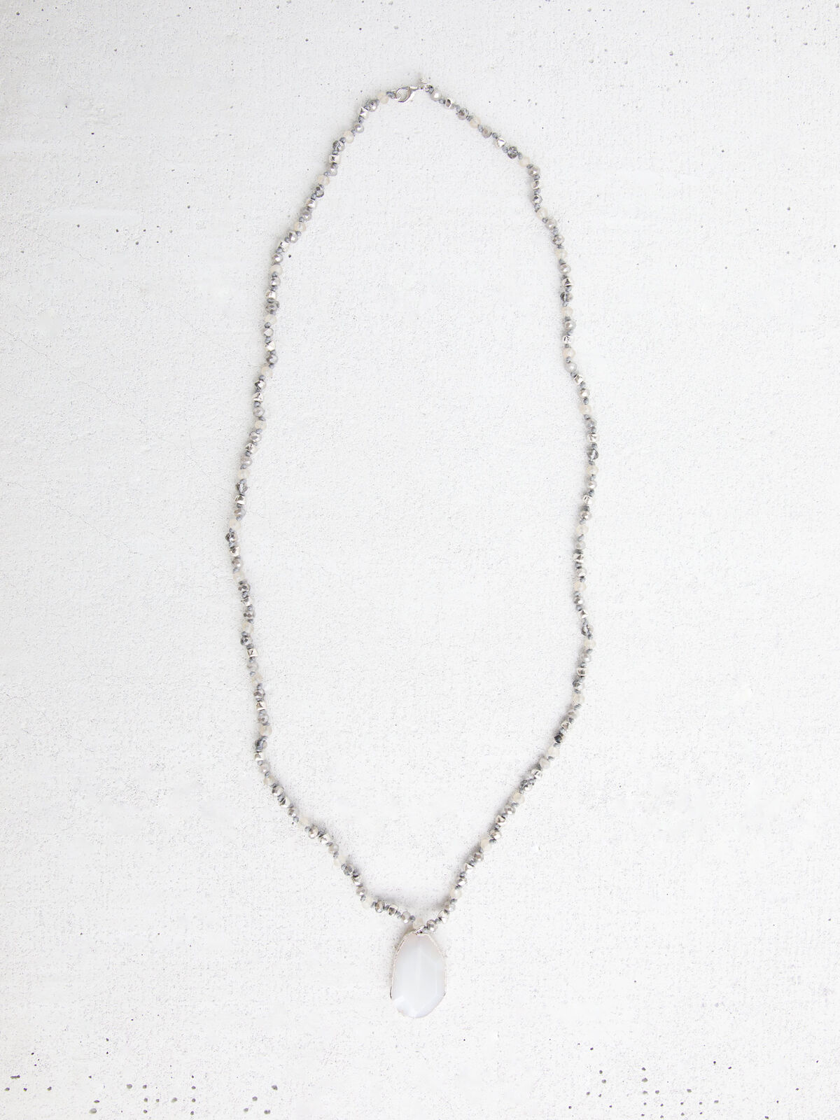 Marlyn Schiff Natural Stone Pendant Necklace