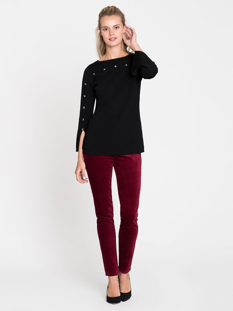 Stretch Velvet Pant image number 0