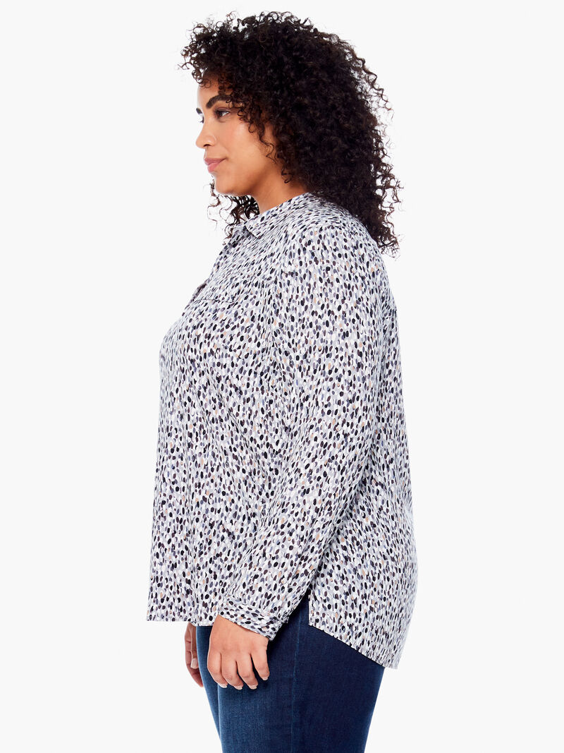 Textured Spot Live In Shirt