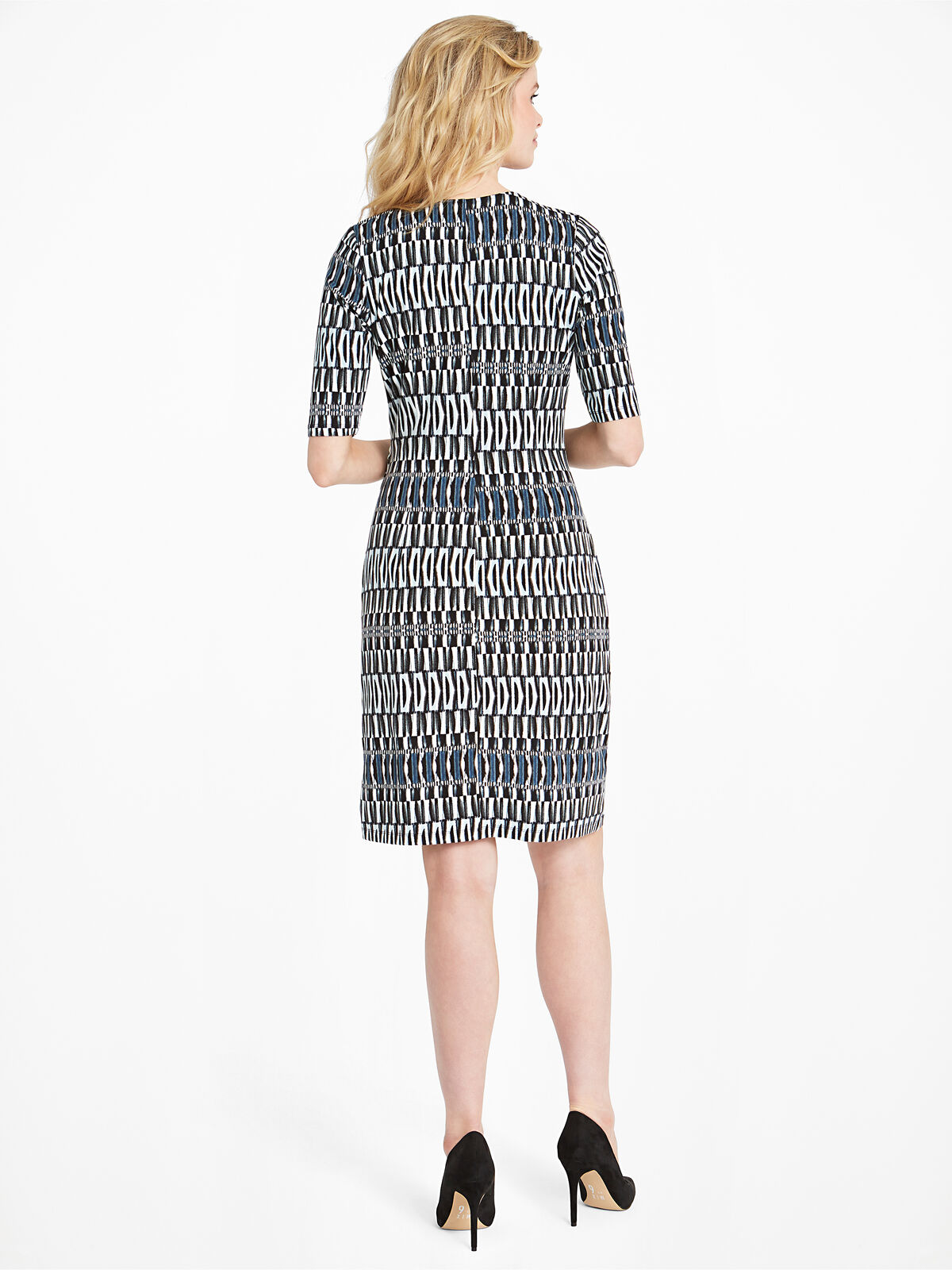 Batik Stripe Twist Dress