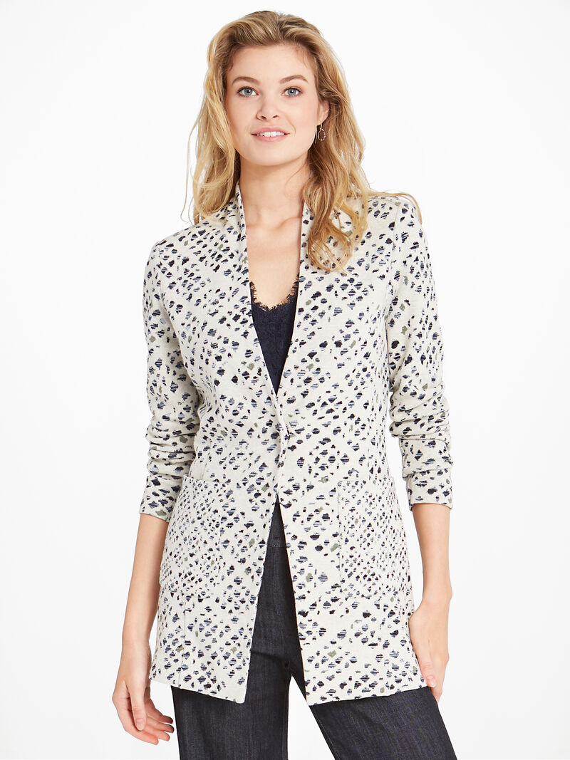 Abstract Check Blazer image number 0