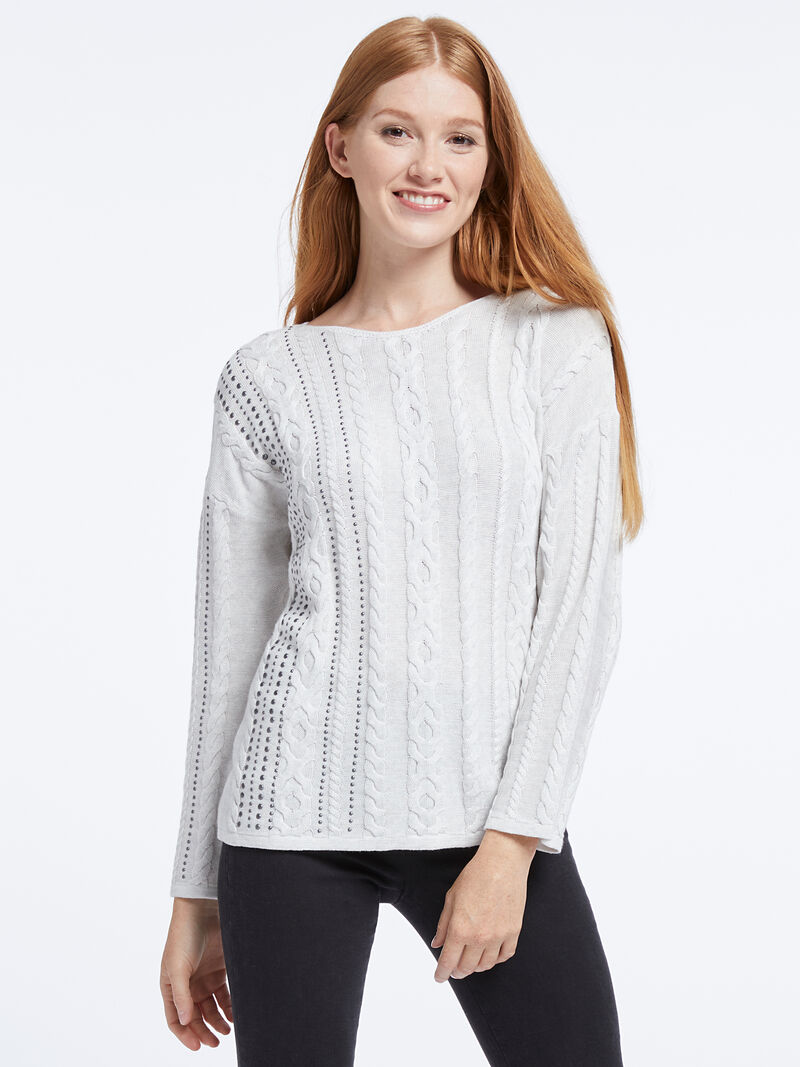 Cable Stud Sweater image number 0