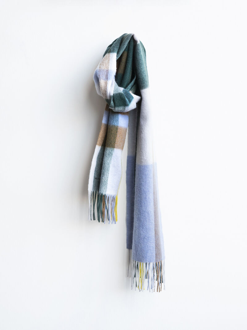 Chan Luu Plaid Long Scarf