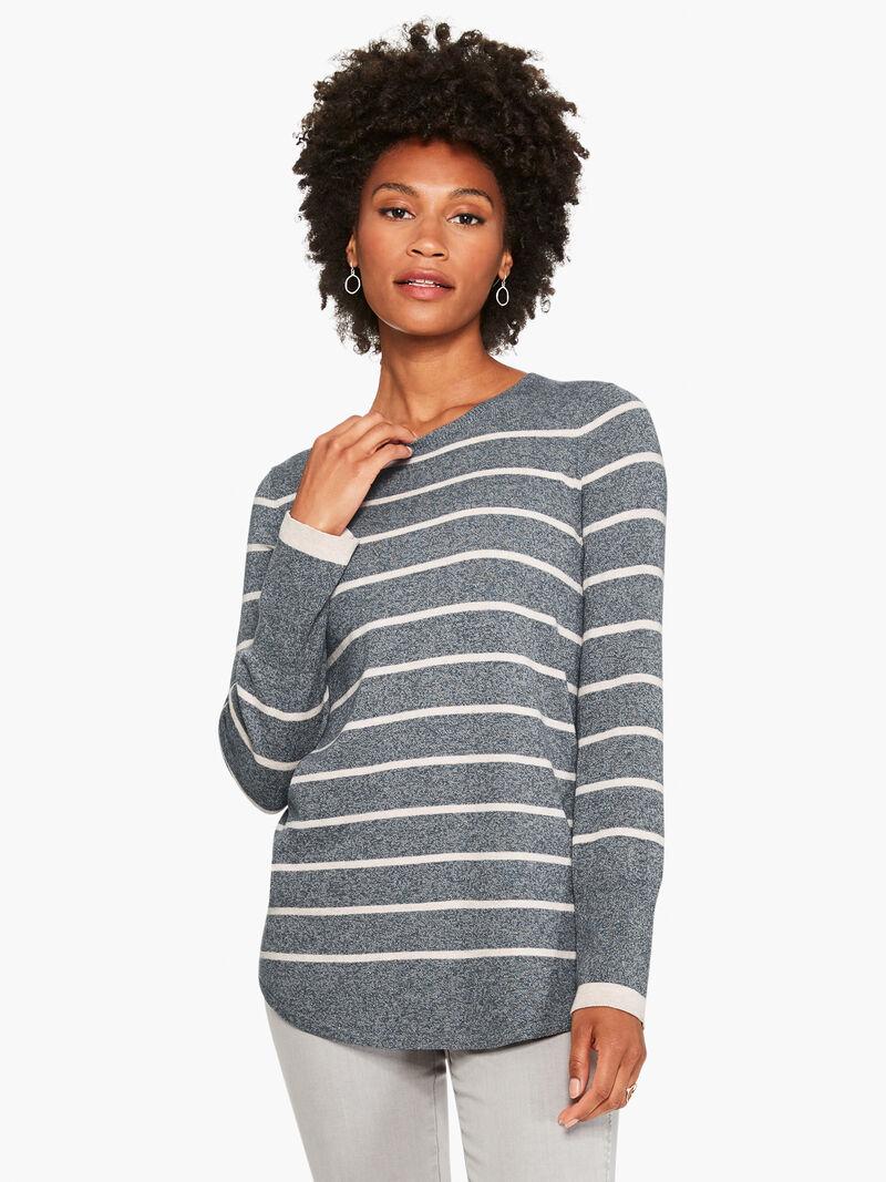 Striped Vital Crewneck Sweater