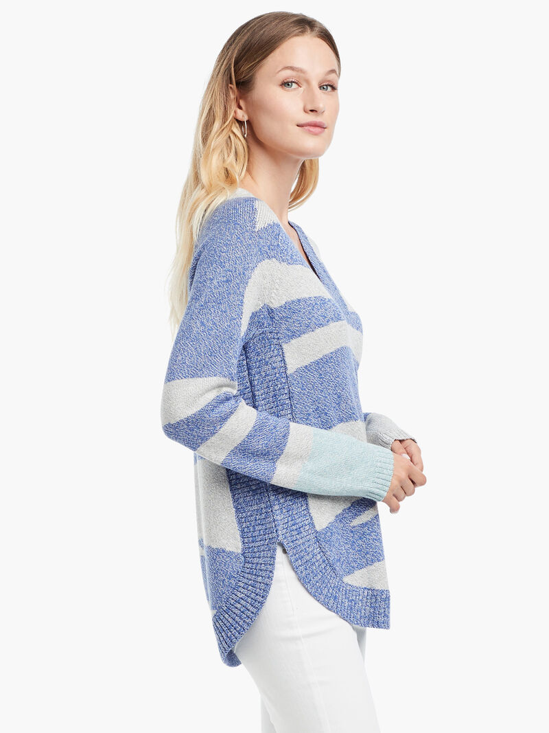 Abstract Stripe Sweater image number 1