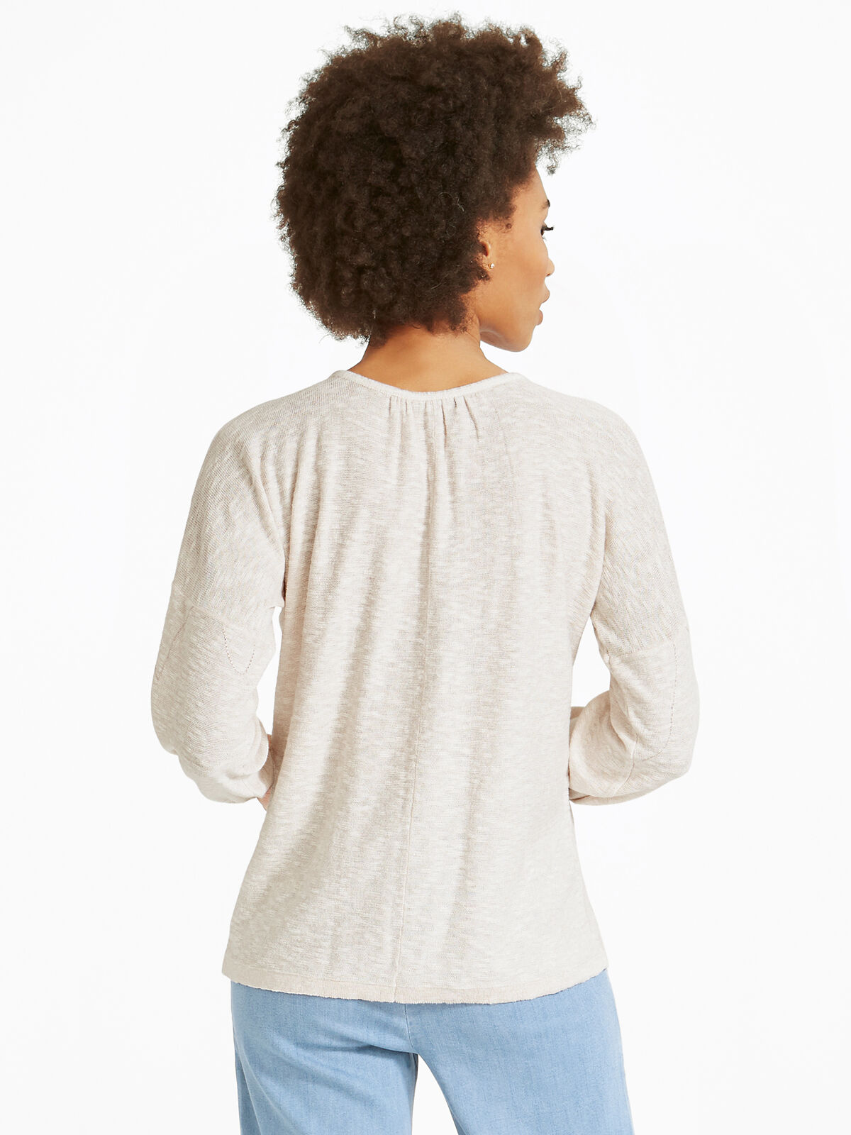 Etched Florals Sweater