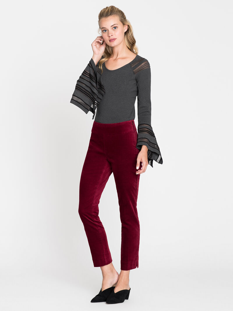 Velvet Side Zip Pant image number 0