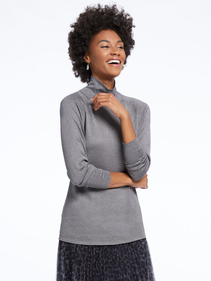 Metallic Turtleneck Sweater image number 0